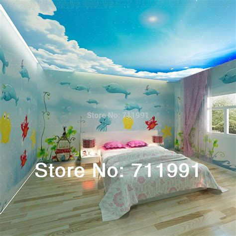 cartoon bedroom wallpaper aliexpress com buy free shipping 3d dolphins underwater world wallpaper cartoon
