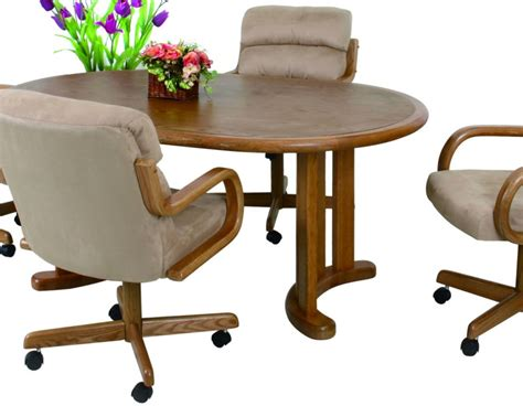 Caster Chair Dining Sets Douglas Casual Caster Dinette 5 Pedestal Table Broadway Furniture