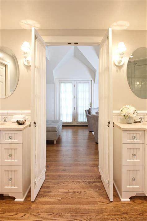 master bedroombath suite traditional bathroom  york  jill kalman interiors