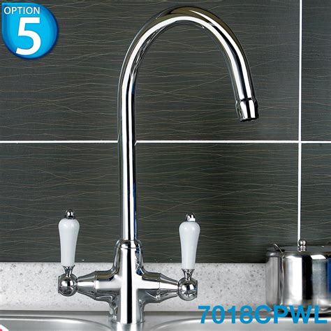 Kitchen Tap Styles Chrome Swivel Spout Monobloc Kitchen Sink Mixer Tap