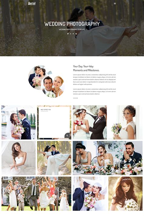 Aerial Wedding Photography Website Template 68821 Aerial Photography Website Templates