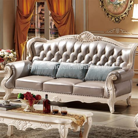 European Sofa Resin Frame luxury classical italian european antique style carved rubber solid wood frame artistic