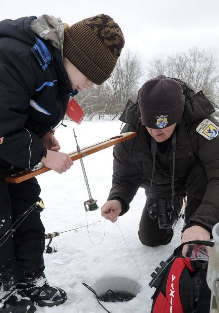 mcnally boat landing winona junior anglers have fun learn to ice fish at annual event