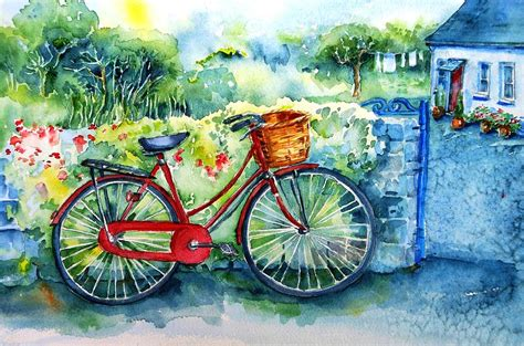 bike painting my bicycle painting by trudi doyle