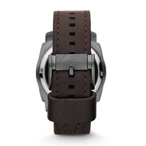 Fossil Me 1122 Gold Brown mechanical twist brown leather fossil