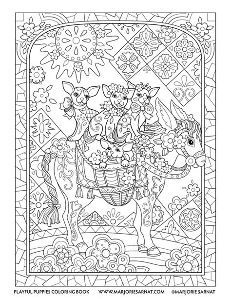Where Can I Get Coloring Books Playful Puppies Marjorie Sarnat Design Illustration by Where Can I Get Coloring Books