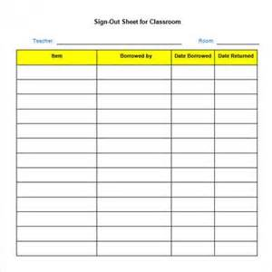 Sample sign out sheet template 8 free documents download in pdf