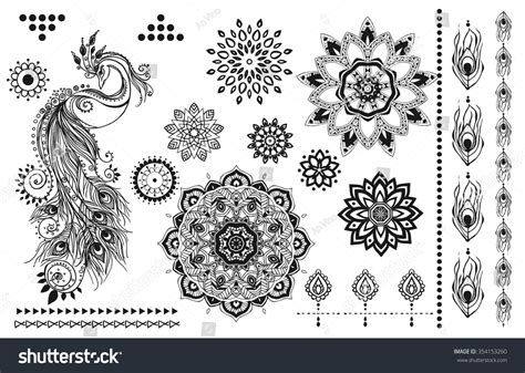 mandala set other elements vector mandala stock vector