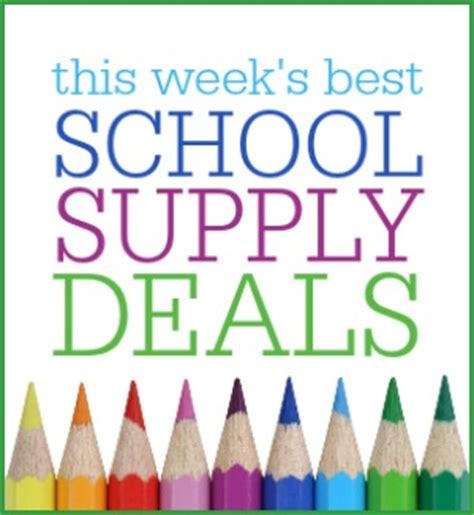 target more school supply deals crayola mead bic
