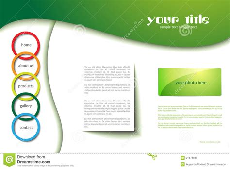 Website Template With Circles Stock Image Image 21171945 Copyright Free Website Templates