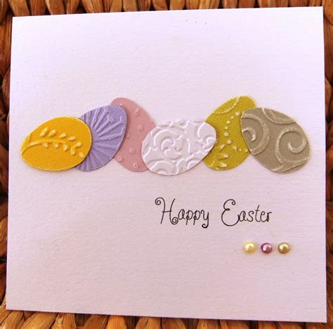 simple easter cards to make handnmade easter card clean and simple frow of die