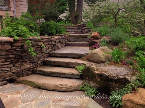 Rustic Landscaping Ideas For A Backyard Rustic Garden Steps In Ny Rustic Landscape New York By Summerset Gardens Joe Weuste