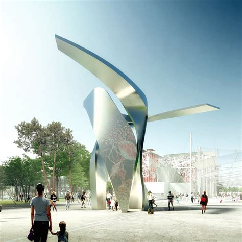 designboom expo 2015 libeskind s dynamic twisting vanke pavilion nearing completion