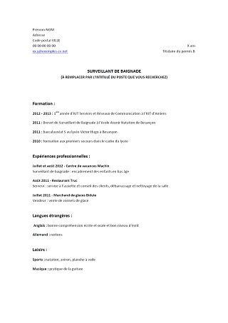 Modelo Curriculum Vitae Europeo Trackid Sp 006 Modele Cv Sans Experience Cv Anonyme