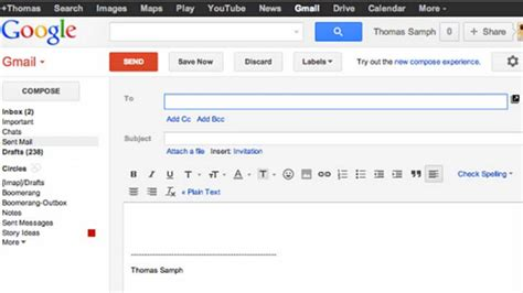 how to get the gmail compose screen back