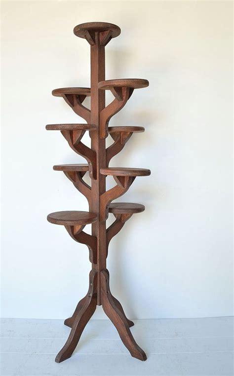 Garden Flower Stands Vintage Handmade Wooden Tiered Plant Stand Flower