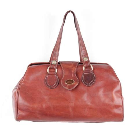 Fashion Dokter Bag 860 gianfranco ferre italian brown leather doctor bag tote