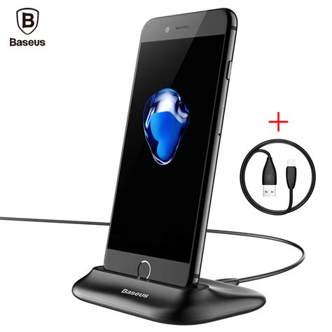 Lightning Dock Charging Iphone 5 6 Charging Iphone Kabel Micro Usb Usb aliexpress buy baseus sync data charging dock station for lightning cell phone desktop