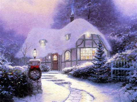 wallpaper christmas season winter season snow houses christmas artwork wallpaper