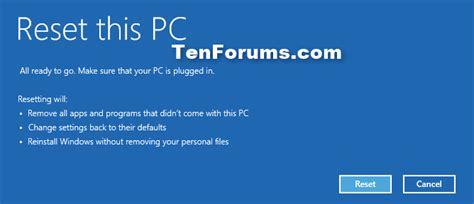 hp resetting your pc time refresh windows 10 windows 10 tutorials