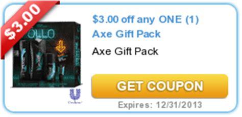 3001 axe gift set printable coupon 3 00 off axe gift pack coupon