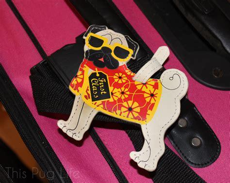 pug luggage tag pug packs his bags this pug
