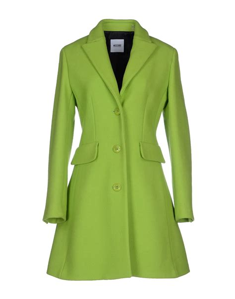 lyst boutique moschino coat in green