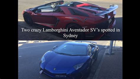 rare lamborghini aventador sv roadster in sydney youtube two crazy lamborghini aventador sv s spotted in sydney australia youtube