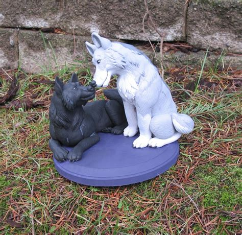 Wolf Cake Decorations by Cake Topper Of Wolves Weasyl
