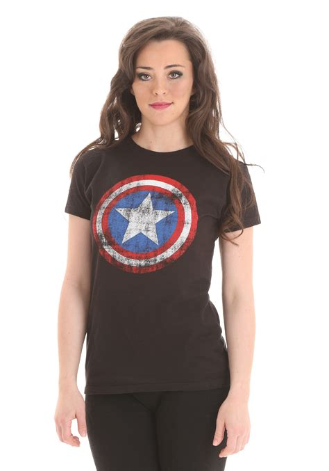 s captain america distressed logo t shirt