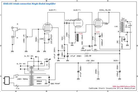 transistor single ended lifier el34 jj e34l mini triode wired single ended lifier d i y