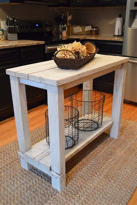 rustic reclaimed wood kitchen island table house