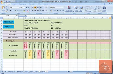 design kalender pendidikan aplikasi analisis butir soal isian dengan microsoft excel