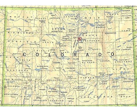 detailed map of colorado usa maps of colorado state collection of detailed maps of