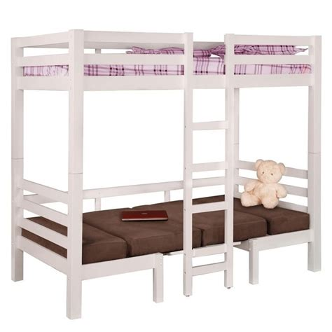convertible bunk beds coaster twin over twin convertible loft bunk bed in white