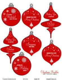Free printable download christmas ornaments gift tags vintage glam