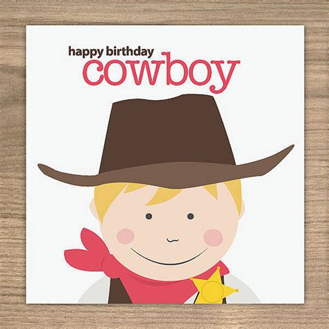 Cowboy Birthday Card Templates by Cowboy Birthday Card By Showler And Showler