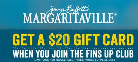 Margaritas Gift Card - free jimmy buffett margaritaville 20 gift card