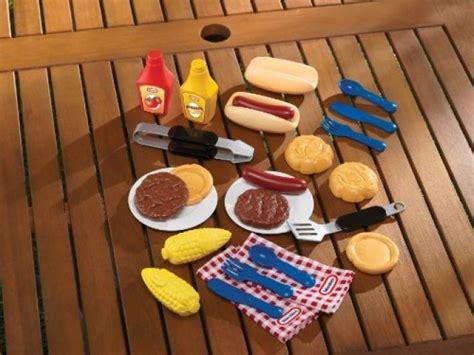 Chillin Grillin Kitchen Play Set Tikes Bbq Grill Set Lunch Food Picnic Pretend
