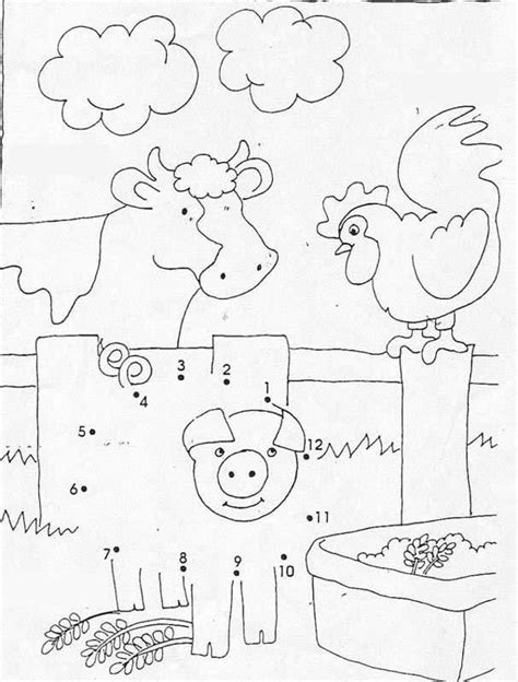 Farm Animals Dot To Dot Game Coloring Pages Hellokids Com Farm Animal Coloring Pages Printable 2