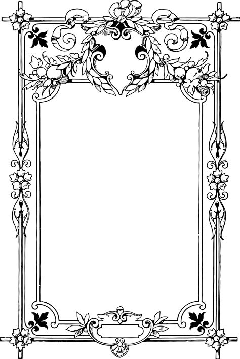 cards transparent template for a 4x6 gorgeous clip border frame oh so nifty vintage graphics