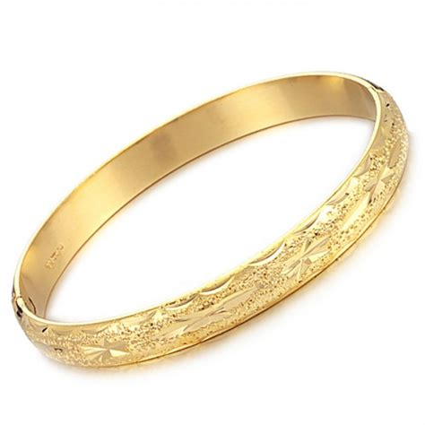 pattern of gold bangles stable quality female star pattern 18k gold plated bangle