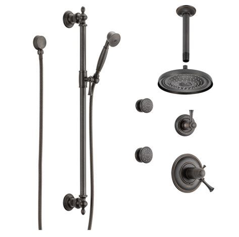 Brizo Shower Systems brizo bb1345 rb venetian bronze thermostatic shower system with shower shower