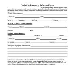 vehicle release form template vehicle release form general release of liability form