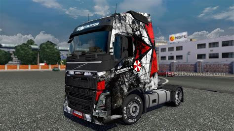 volvo corp umbrella corp skin for volvo euro truck simulator 2 mods