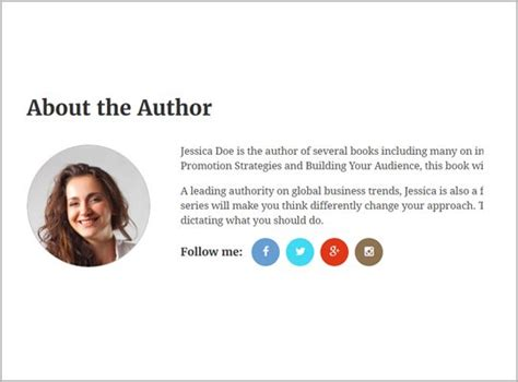 About The Author Template by Best Drag Drop Page Builder E Book Theme 2018 Templatic