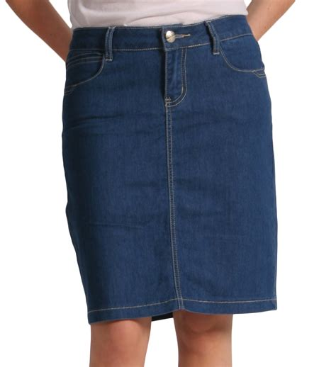 denim knee length skirt blue skirt51 denim midi