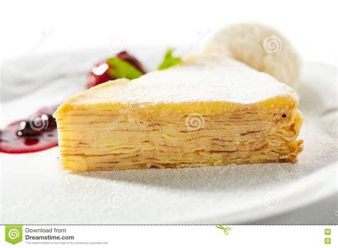 pfannkuchen kuchen pfannkuchen kuchen mit eiscreme stockbild bild