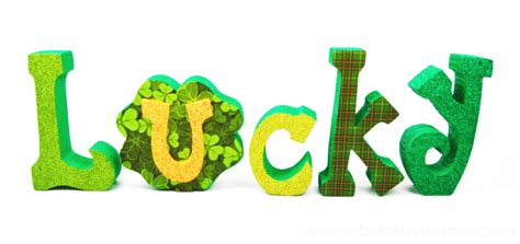 Green Decorations For Home lucky word set artsy fartsy mama