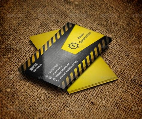 construction business card templates psd best 25 construction business cards ideas on